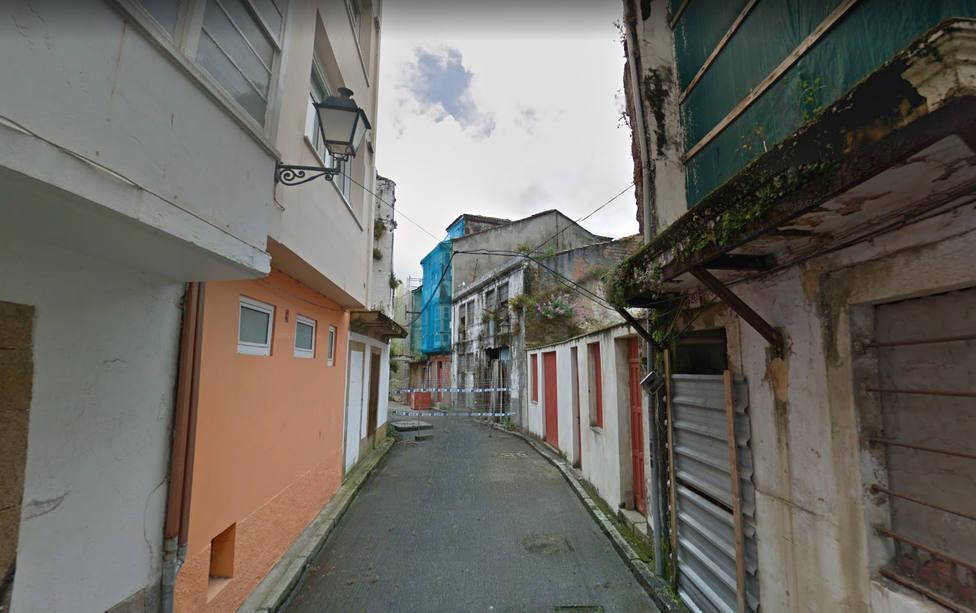 Foto de archivo de la calle Carmen Curuxeiras, en Ferrol Vello