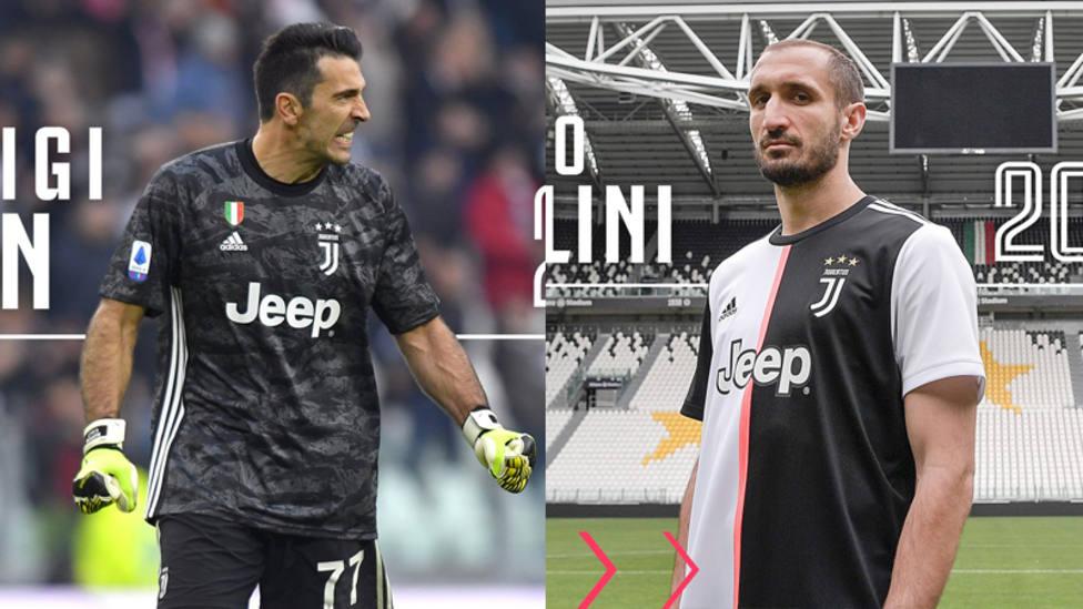Buffon y Chiellini renuevan con la Juve hasta 2021
