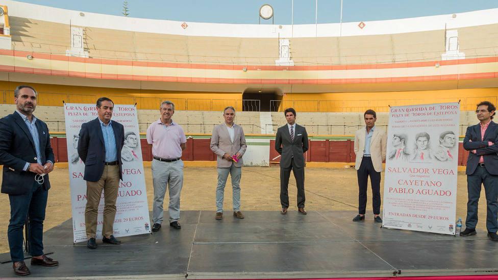 Acto de presentación de la corrida de toros de Estepona (Málaga)