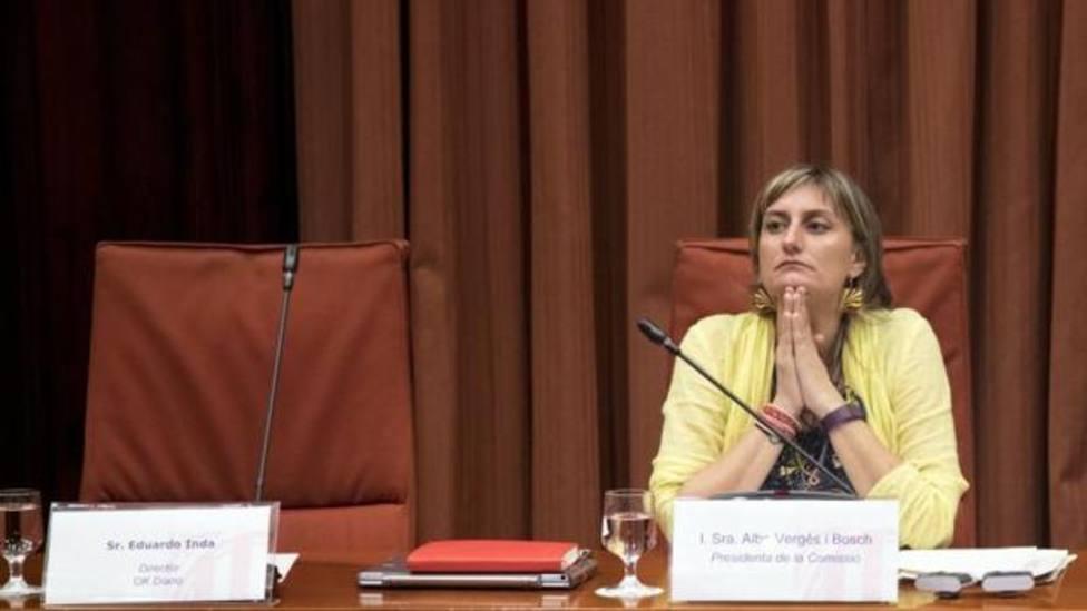 Alba Vergés, durante una comparecencia parlamentaria - EFE