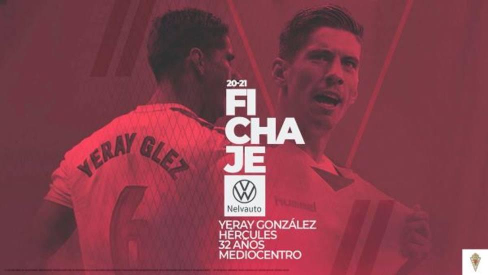 Yeray González se incorpora al Real Murcia