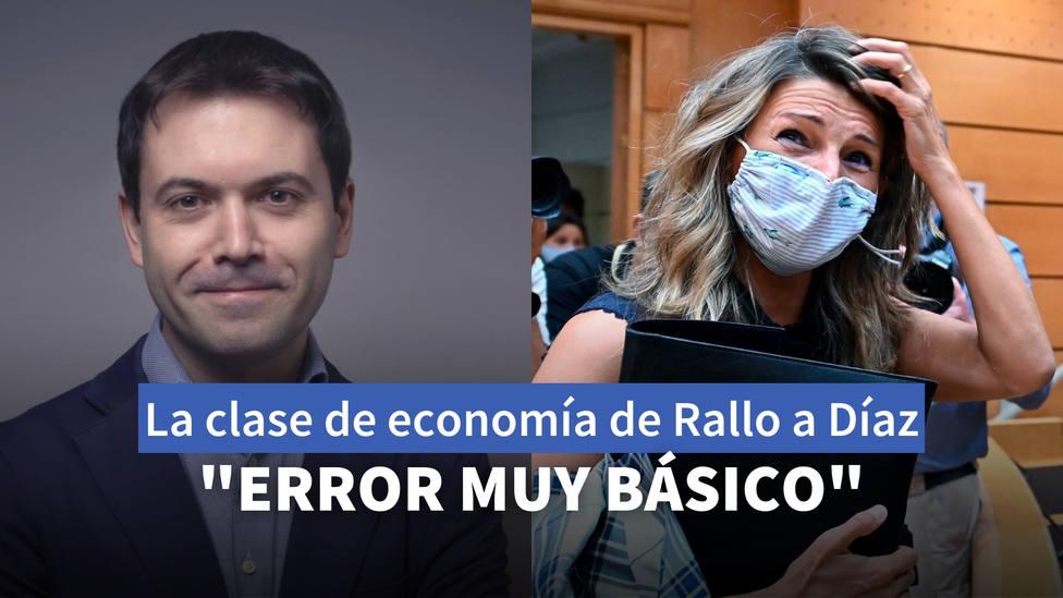 La clase de economía de Juan Ramón Rallo a la ministra Díaz: Error muy básico