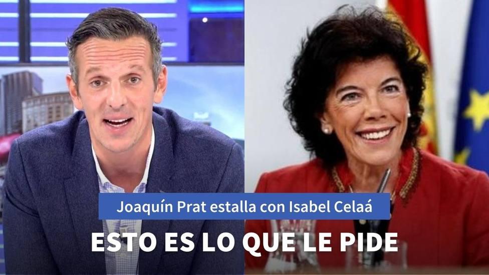 Joaquín Prat estalla contra Isabel Celaá por este gesto tras el estado de alarma