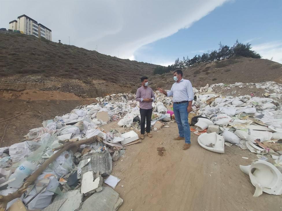 CC-UxGC denuncia la existencia de un vertedero ilegal en El Lasso, en Las Palmas de Gran Canaria