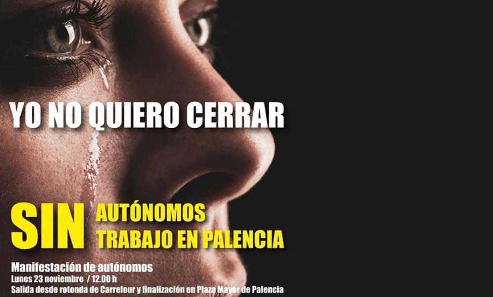Manifestación autónomos en Palencia