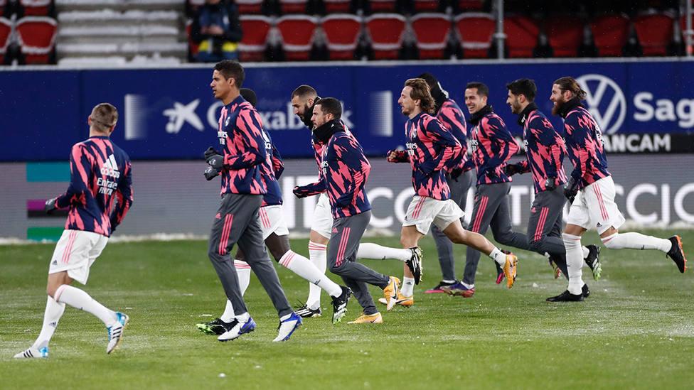 Entrenamiento del Real Madrid en Pamplona