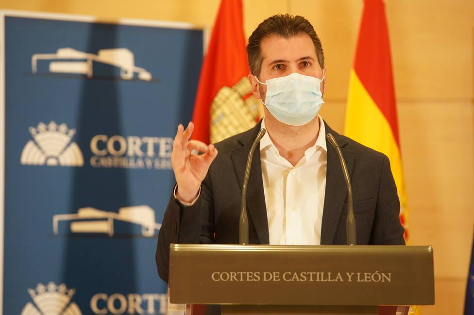 Luis Tudanca, portavoz del PSOE en las Cortes de Castilla y León