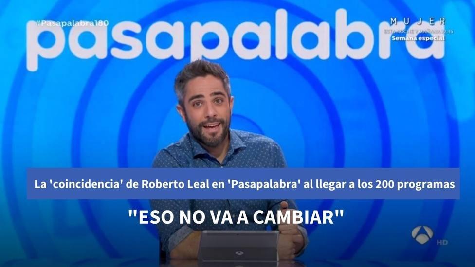 """El aviso de Roberto Leal en Pasapalabra al llegar a los 200 programas: """"No va a cambiar"""""""
