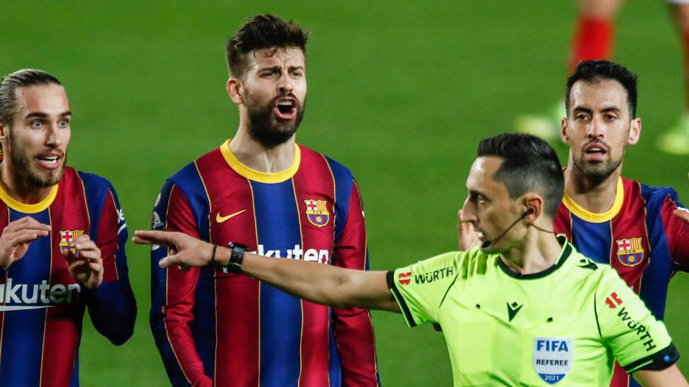 Gerard Piqué, durante el Barcelona - Sevilla, de Copa del Rey. CORDONPRESS
