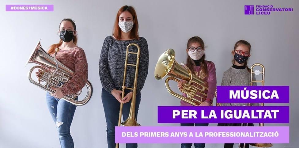 8M.- La Fundació Conservatori Liceu reivindica a las mujeres en la música con un vídeo