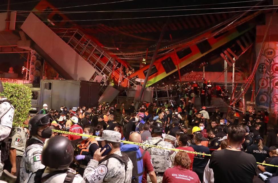 Al menos 15 personas murieron y otras 70 resultaron heridas en un accidente en el metro de México