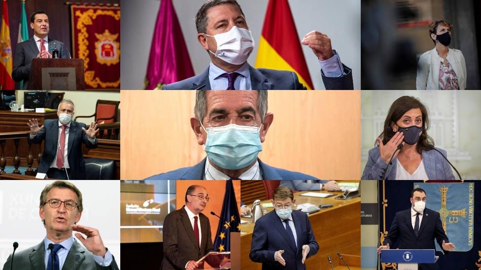 Seis meses de estado de alarma: así ha afectado a los presidentes autonómicos su gestión de la pandemia