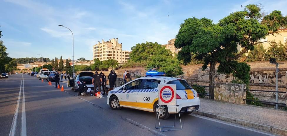 control policial badajoz
