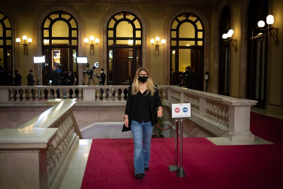 La vicepresidenta de Junts, Elsa Artadi en el Parlament
