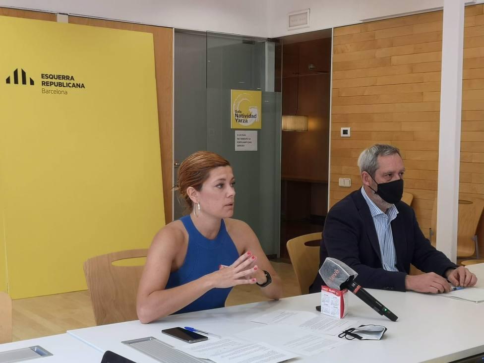 Los concejales de ERC en el Ayuntamiento de Barcelona Elisenda Alamany y Jordi Coronas