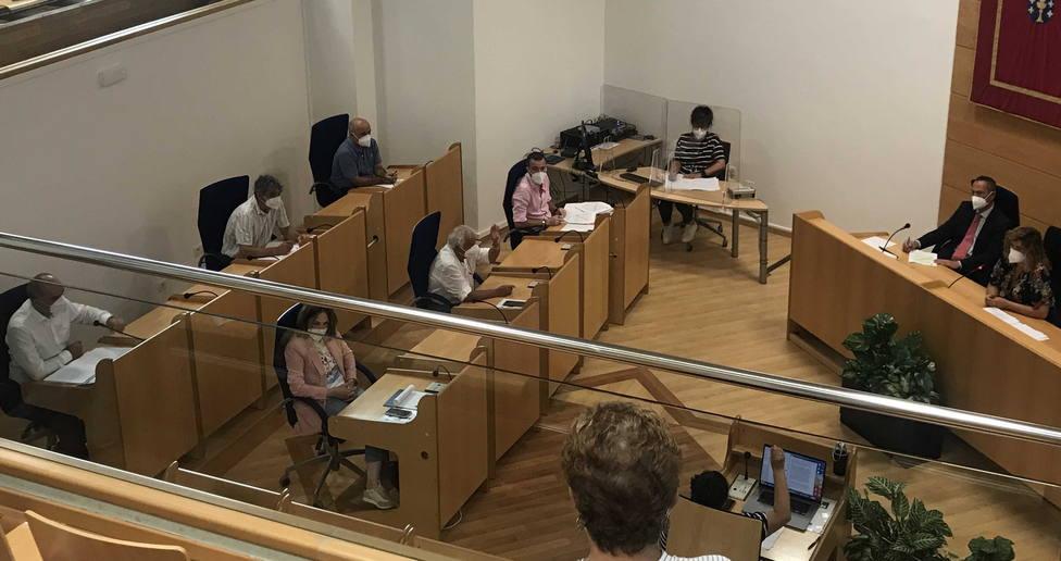 Pleno ordinario de julio celebrado en el concello de Narón. FOTO: concello de Narón