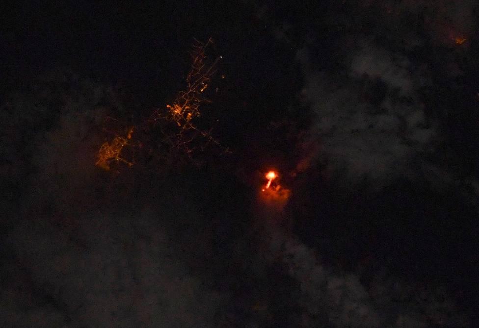 Imagen del volcán desde la Estación Espacial Internacional