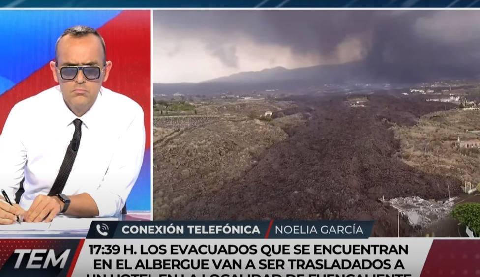 La alcaldesa de un pueblo de La Palma le para los pies a Risto Mejide en directo: No es el momento