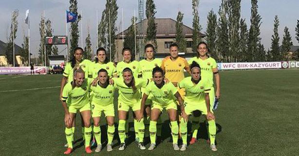 Once inicial del Barcelona femenino