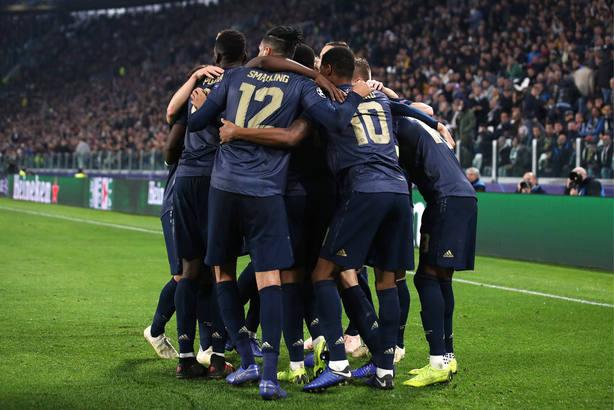 El Manchester United celebra el 1-2 a la Juventus (Cordon Press)