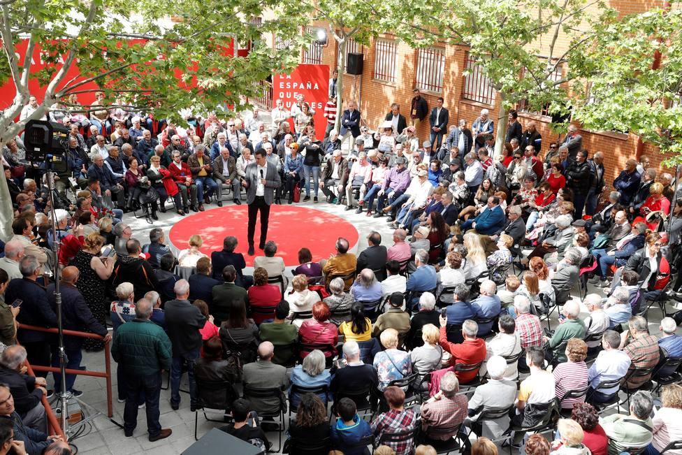 Acto de campaña de Pedro Sánchez en Madrid