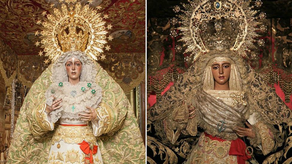 La Esperanza Macarena y la Esperanza de Triana, dos devociones toreras de la Semana Santa de Sevilla