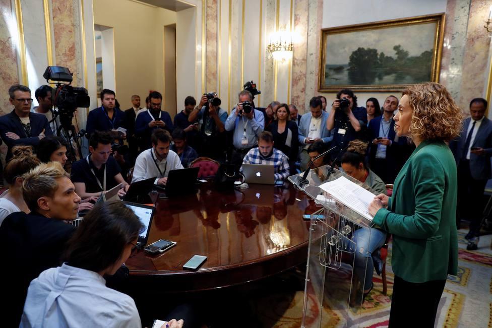 La Mesa del Congreso suspende a los cuatro diputados catalanes presos