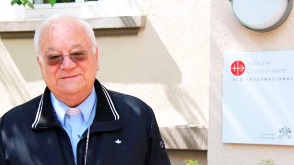 Mons. Ilario Antoniazzi, arzobispo de la diócesis de Túnez, en la sede internacional de ACN