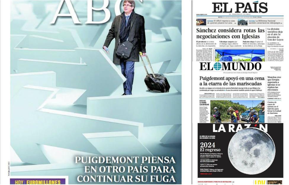 La ruptura total de Sánchez con Iglesias imposibilita un acuerdo para la investidura, entre las portadas