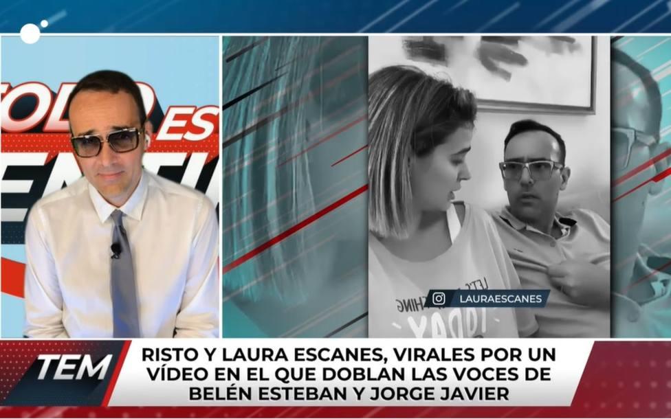 Risto desvela qué le dijo Jorge Javier Vázquez tras imitarle con su mujer