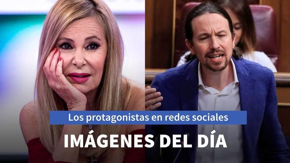 Ana Obregón y Pablo Iglesias