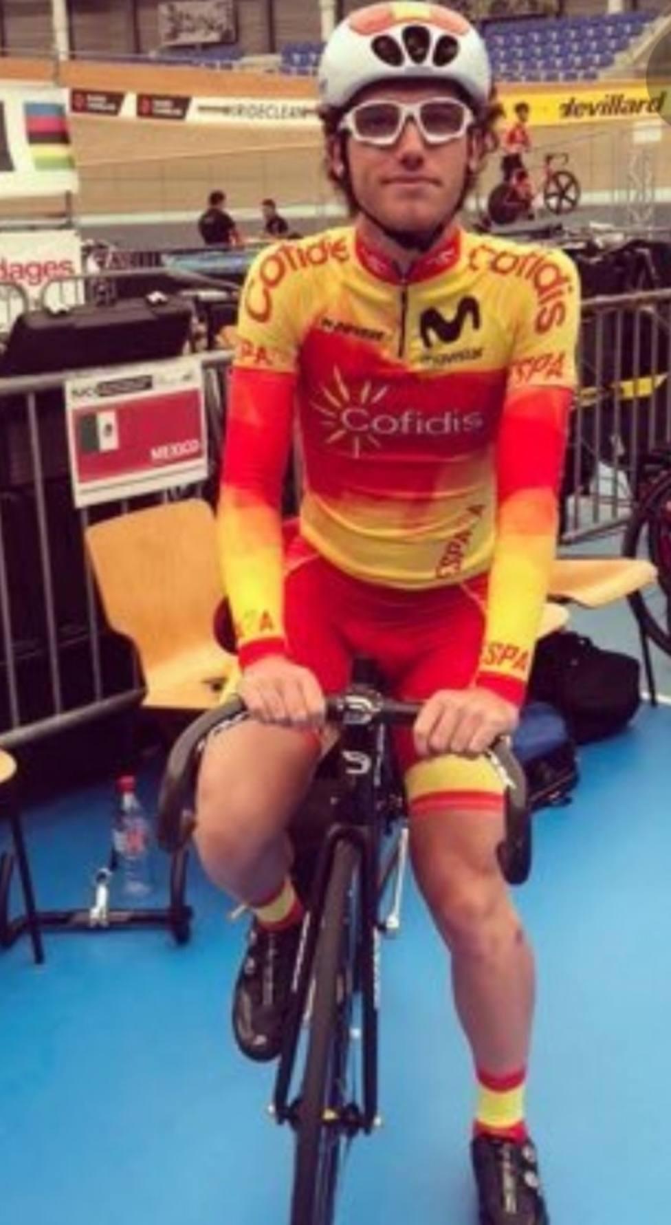 El lorquino Alberto Pérez, preselecciondo con la selección española de ciclismo de pista