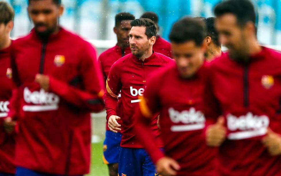 Leo Messi, en el entrenamiento del Barcelona de este miércoles (@FCBarcelona)