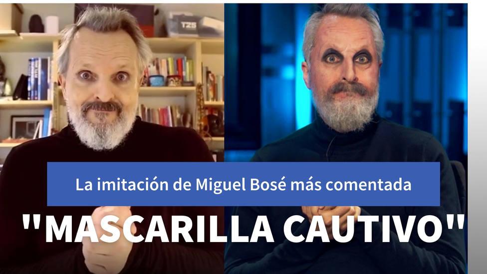 Raúl Pérez protagoniza la imitación de Miguel Bosé de la que todo el mundo habla: Mascarilla cautivo