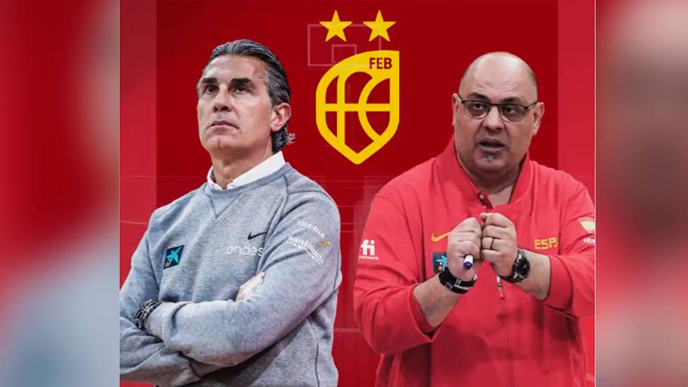 Sergio Scariolo y Lucas Mondelo, seleccionadores de España de baloncesto