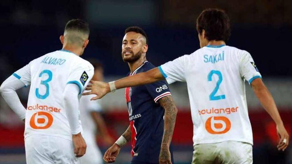 Enfrentamiento entre Neymar y Álvaro en la Ligue 1