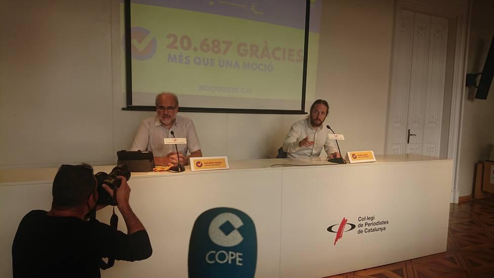 COPE, en la rueda de prensa sobre la Moción de Censura a Bartomeu
