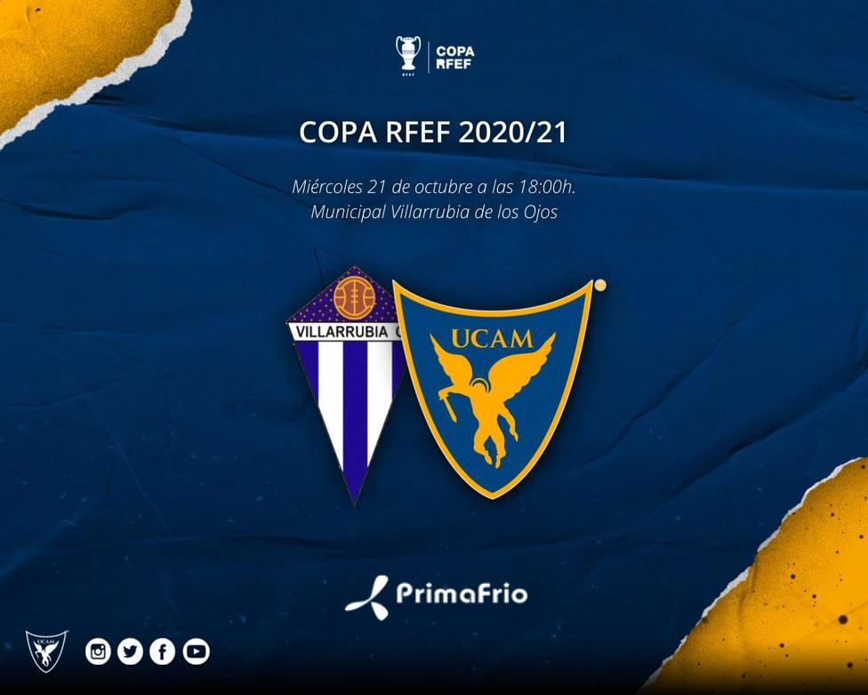 Villarrubia - UCAM, miércoles 21 de octubre a las 18.00 horas