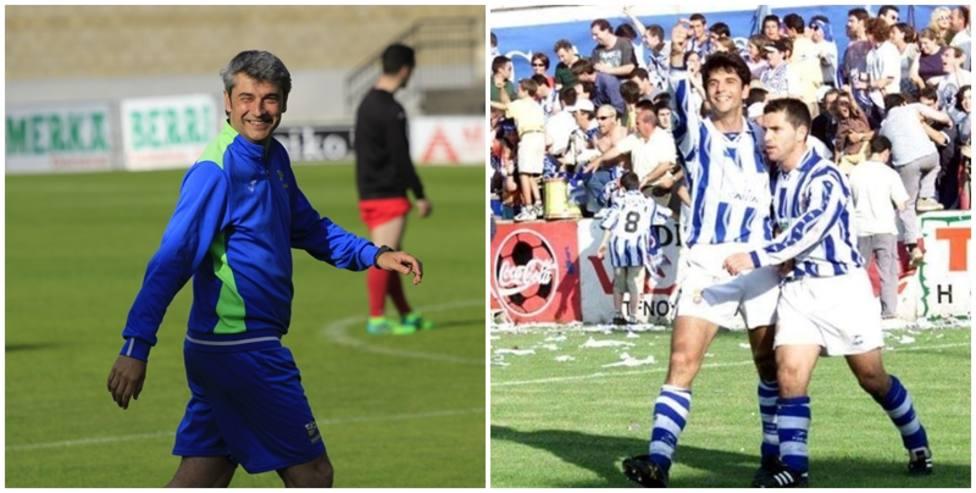 Carlos Docando, como entrenador y junto a Chili en su etapa siendo jugador de la Gimnástica. Fotos: RSGT