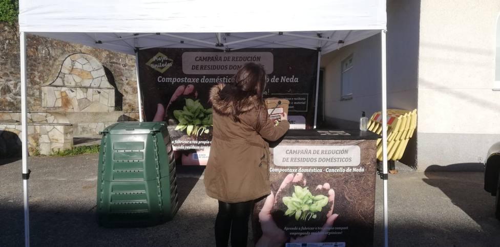 Los vecinos que se adhieran al compostaje casero de Neda recibirán asesoramiento. FOTO: Concello Neda