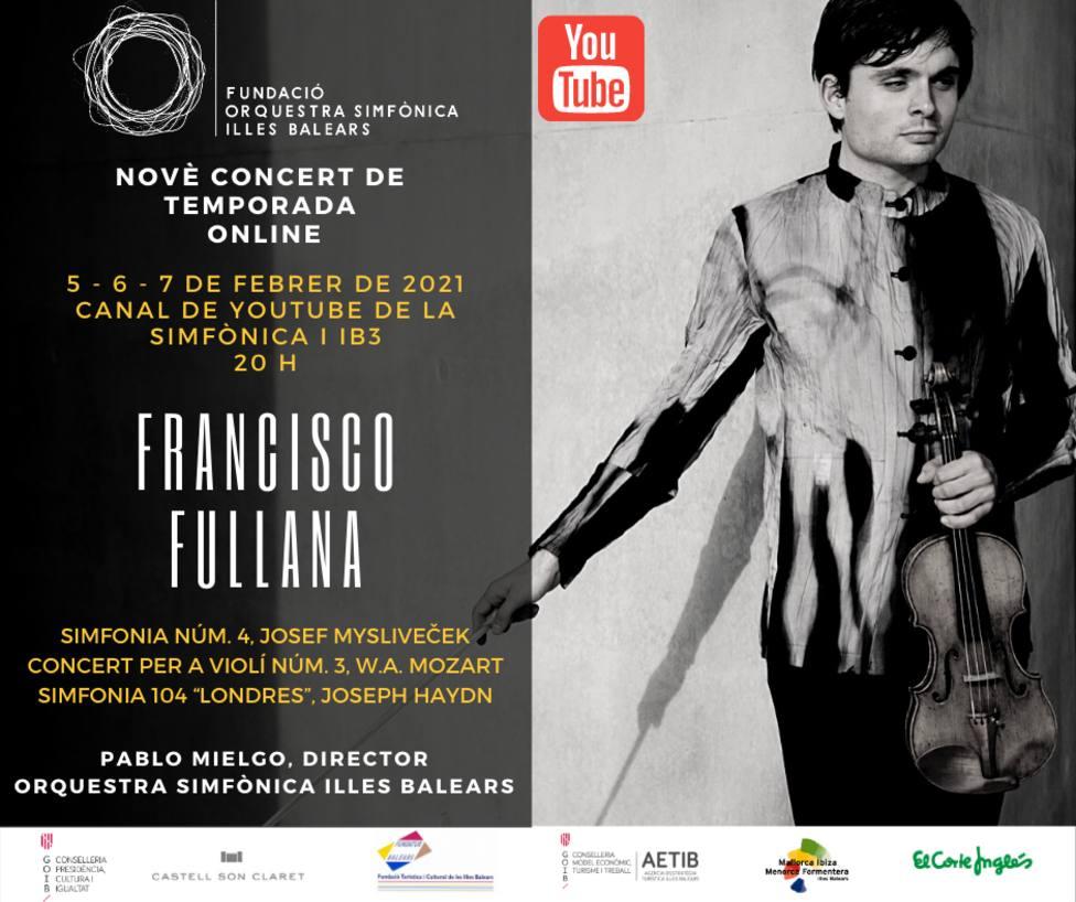 El violinista mallorquín Francisco Fullana protagoniza el novenoconcierto