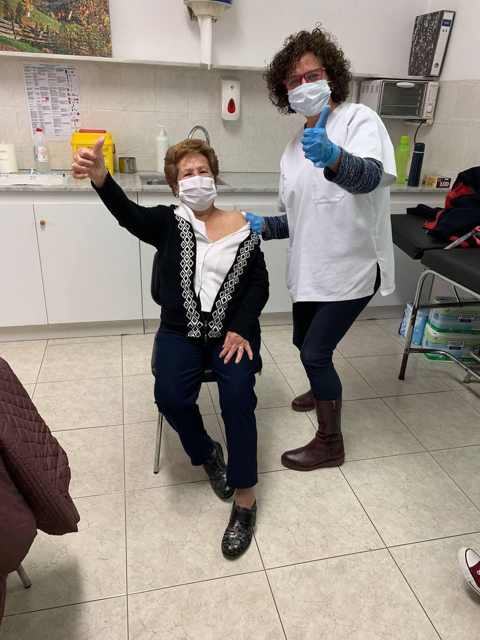 Alegría entre los más mayores de Rossell ante el inicio de la vacunación contra el coronavirus