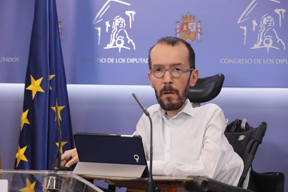 Pablo Echenique. Unidas Podemos. Congreso de los Diputados