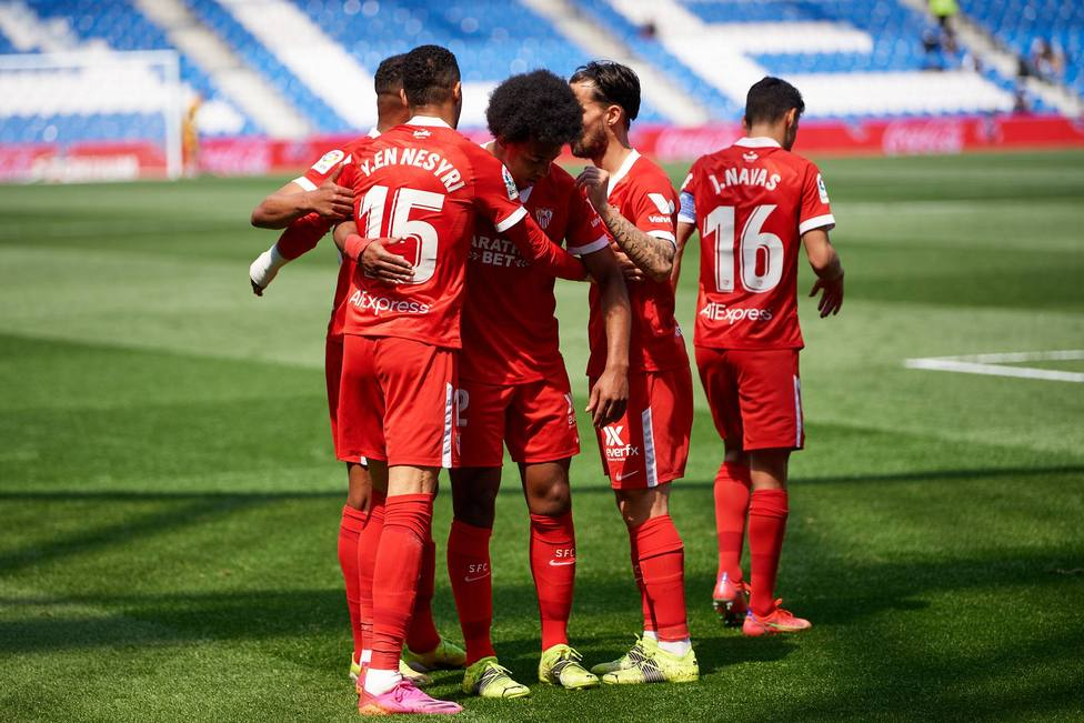 Spanish La Liga soccer match Real Sociedad vs Sevilla