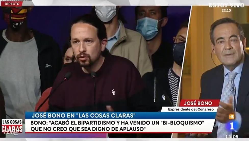José Bono explica a Jesús Cintora el futuro de la política en España sin Iglesias: No me extrañaría