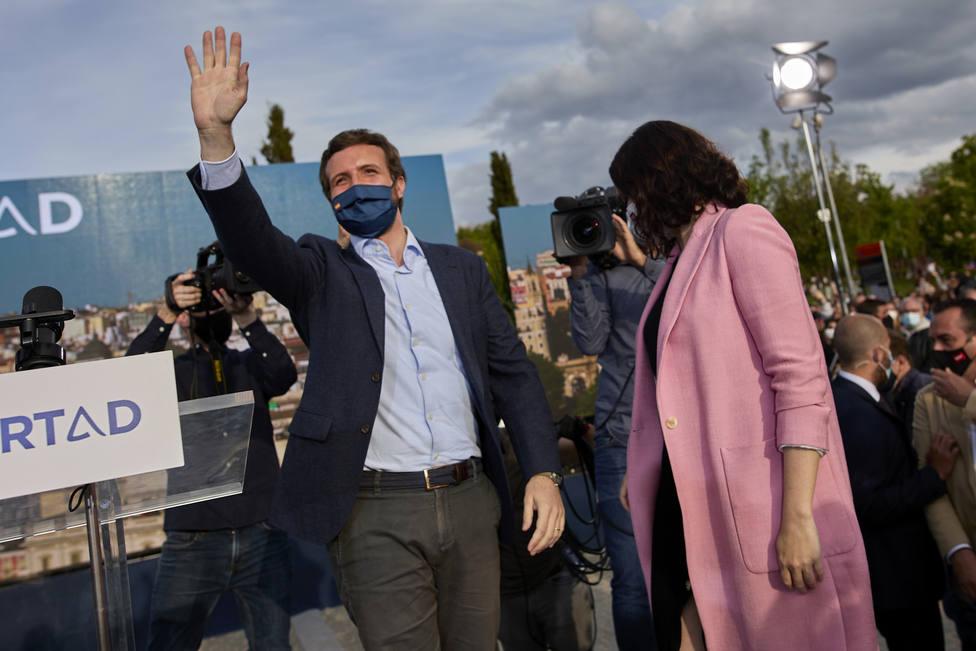 El efecto Ayuso dispara a Casado: superaría a Sánchez en intención de voto con casi cinco puntos de ventaja