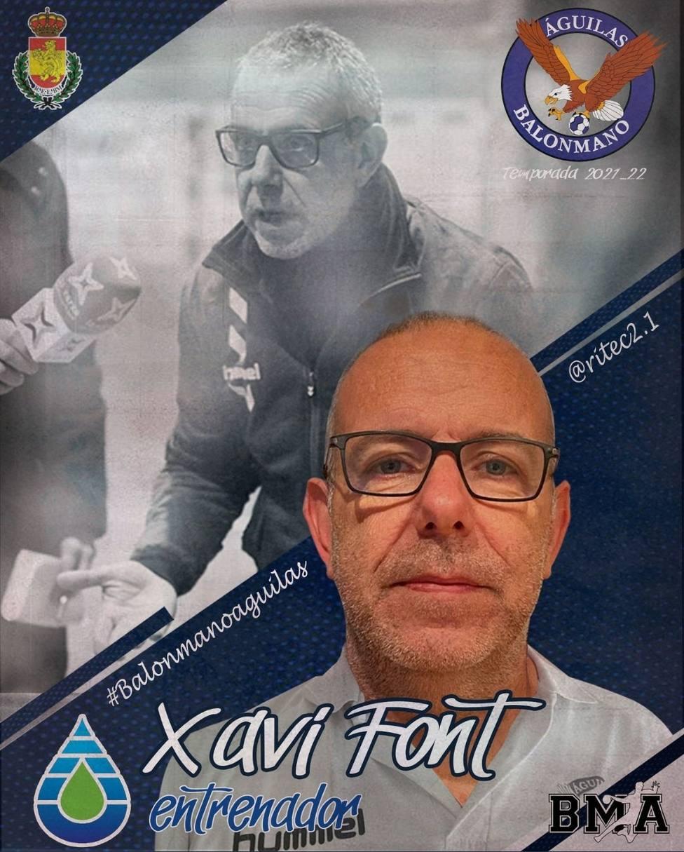 Xavi Font será el entrenador del Ritec Balonmano Águilas
