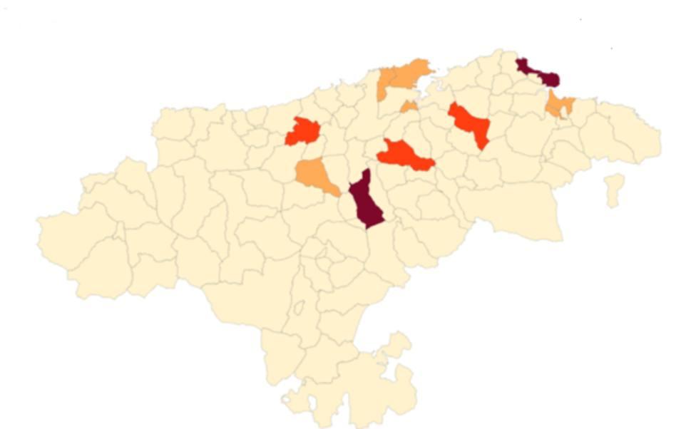 Noja, Santoña y Corvera de Toranzo en riesgo muy alto por Covid y otros tres municipios están en nivel 3