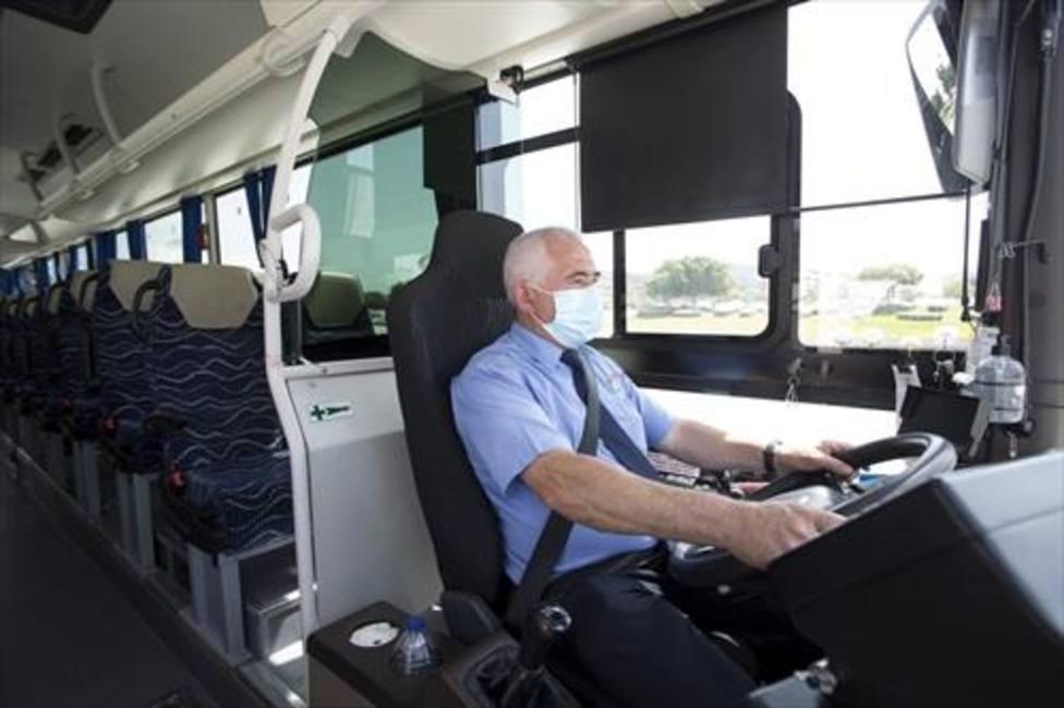 Un conductor de un autobús
