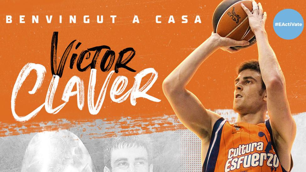 El Valencia Basket ha anunciado el fichaje del Víctor Claver.